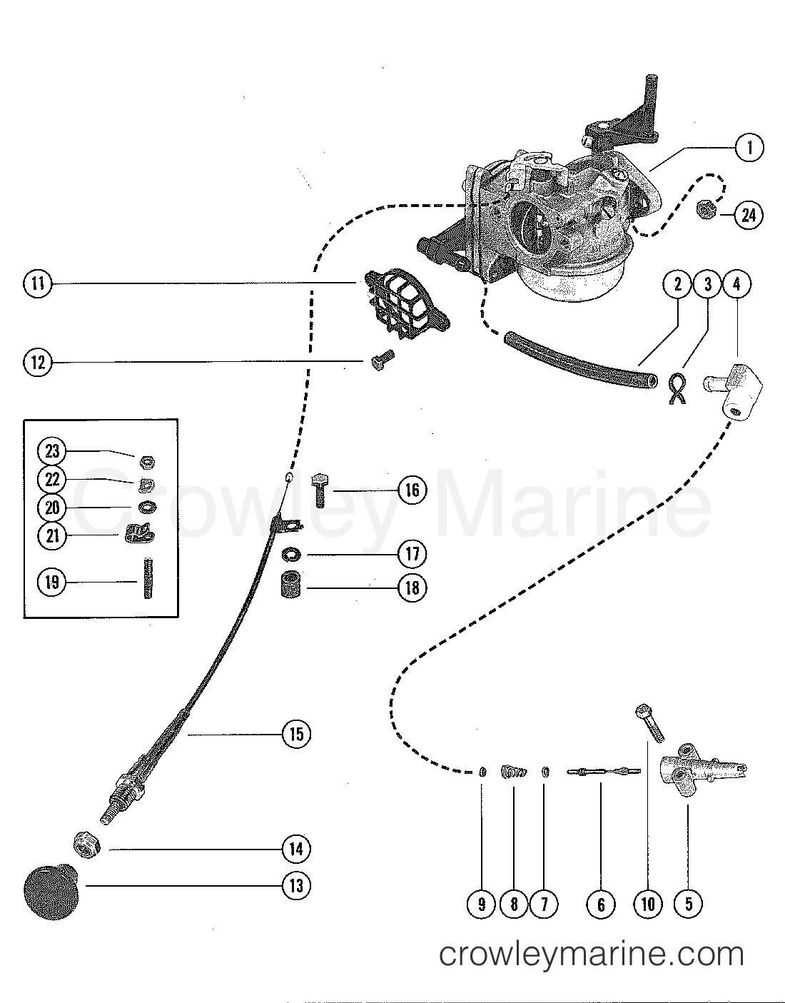 Carburetor And Choke Assembly
