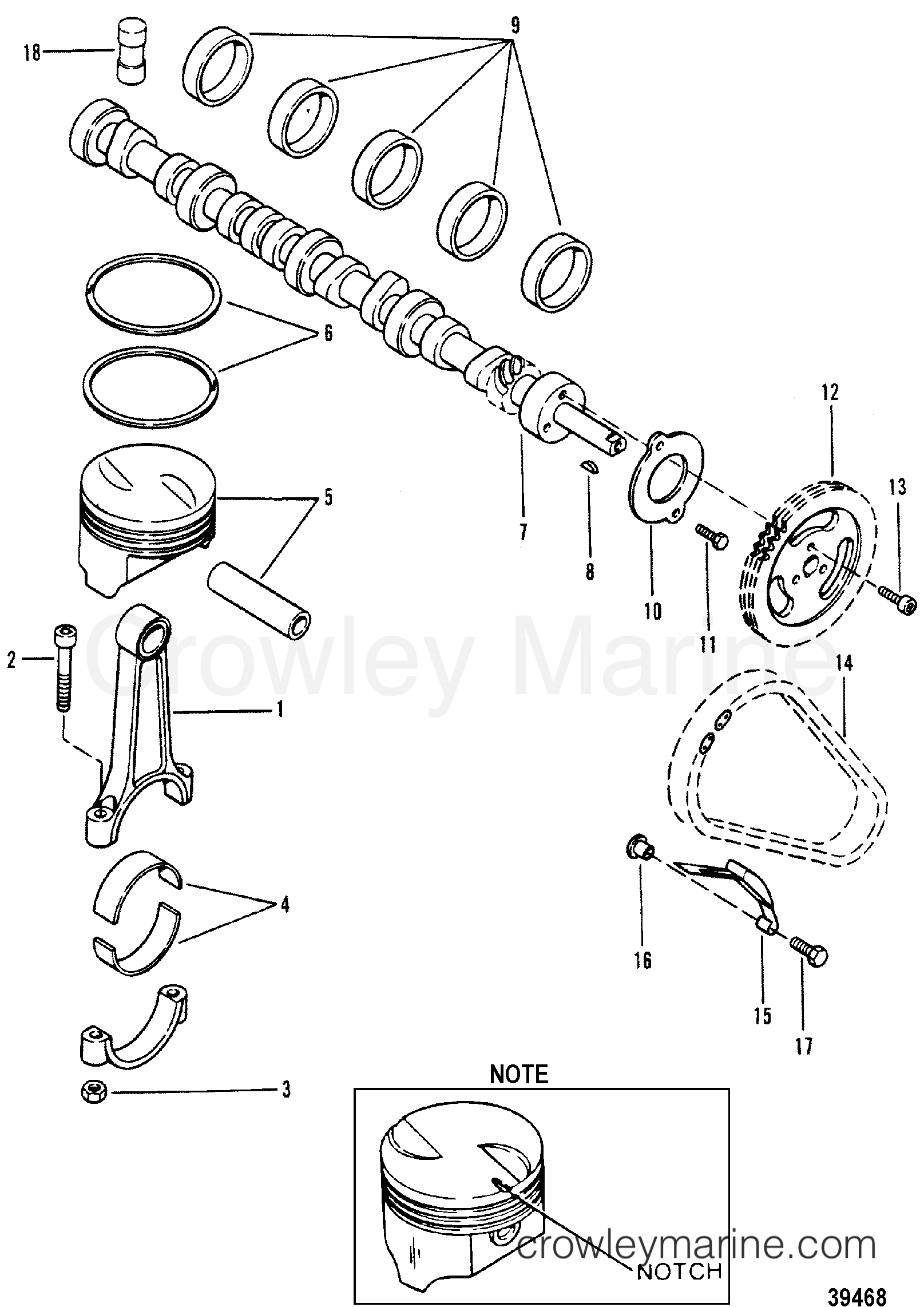 Camshaft And Piston