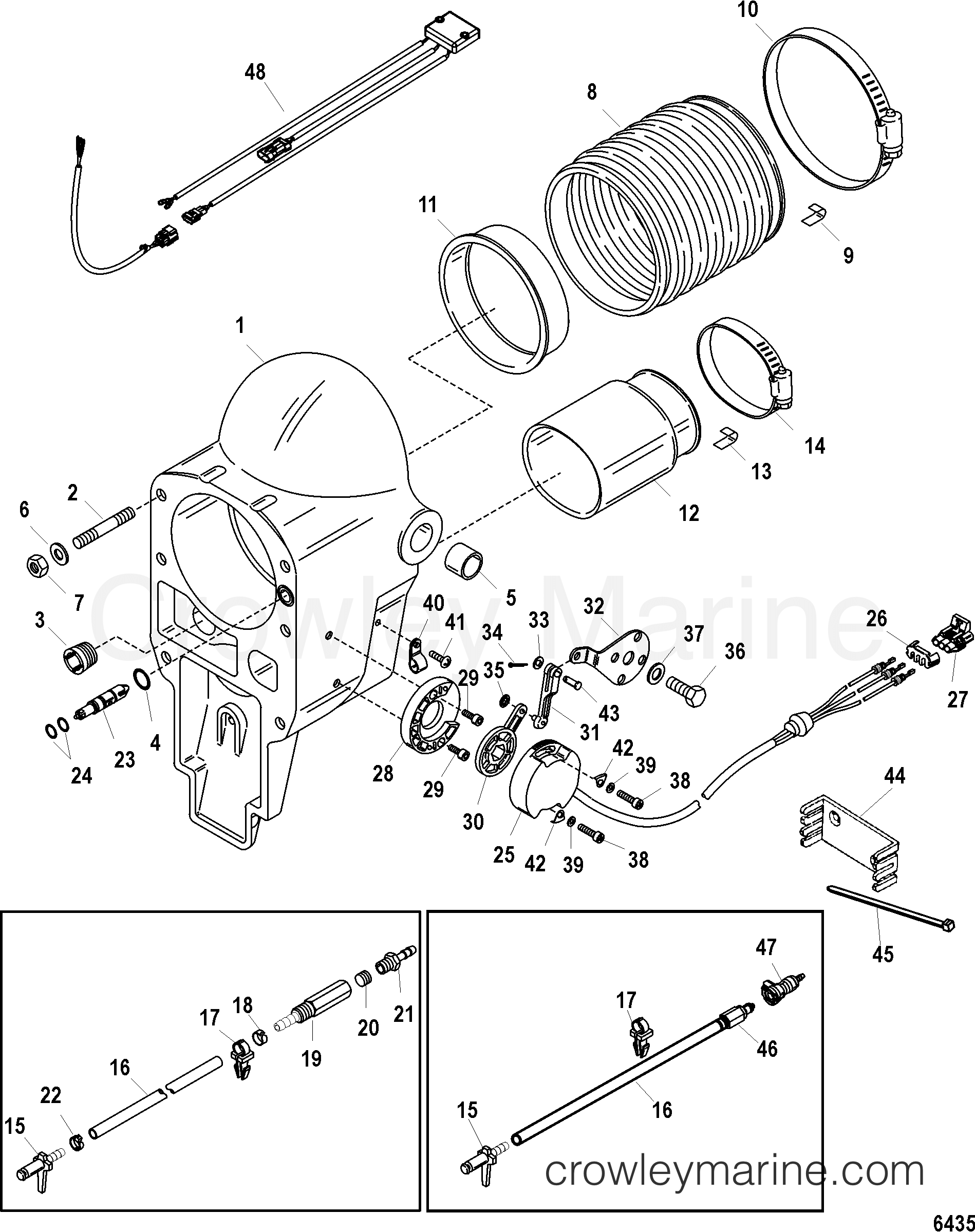 Bell Housing Integrated And Hi Performance Transom