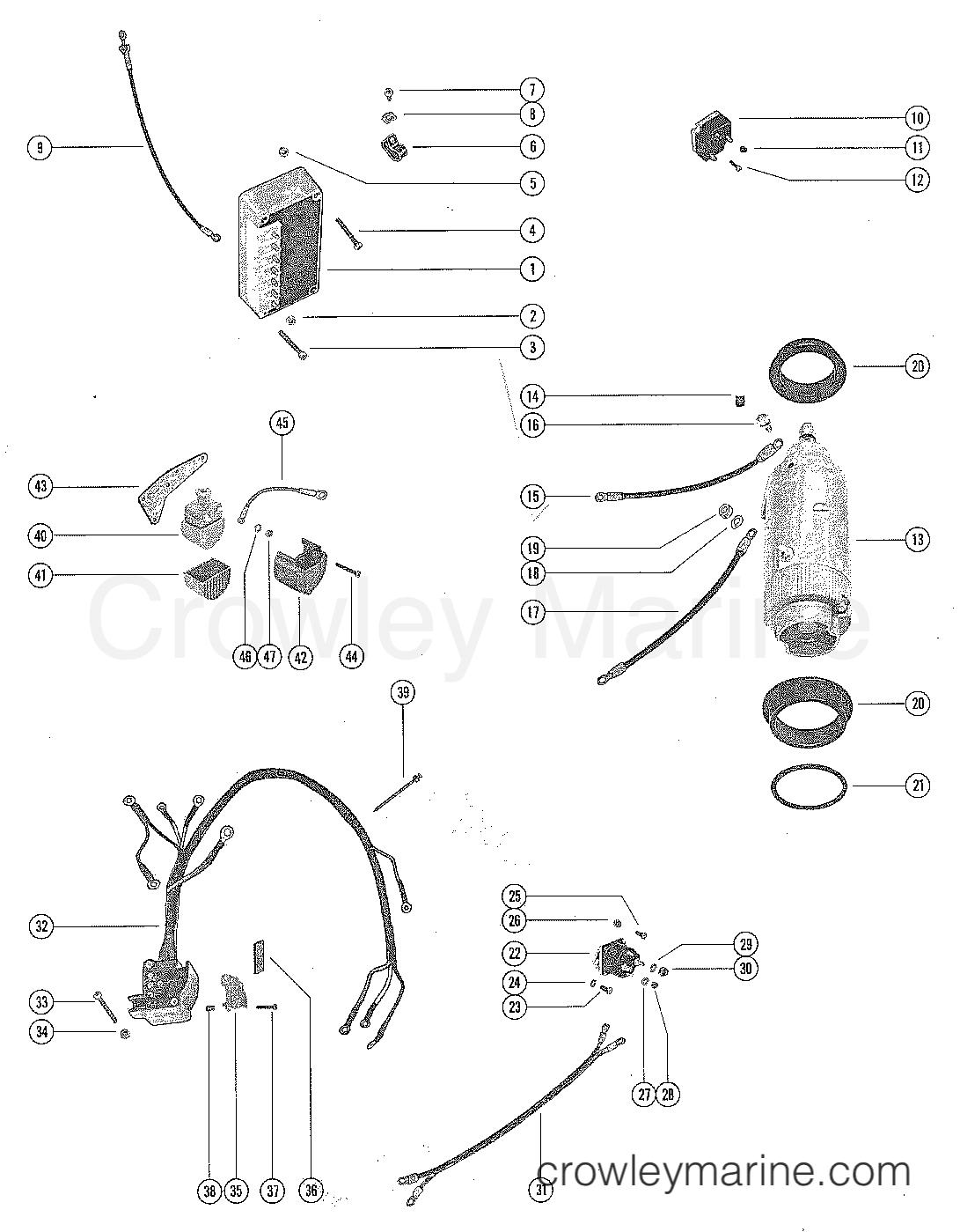 Starter Motor Starter Solenoid Rectifier Amp Wiring