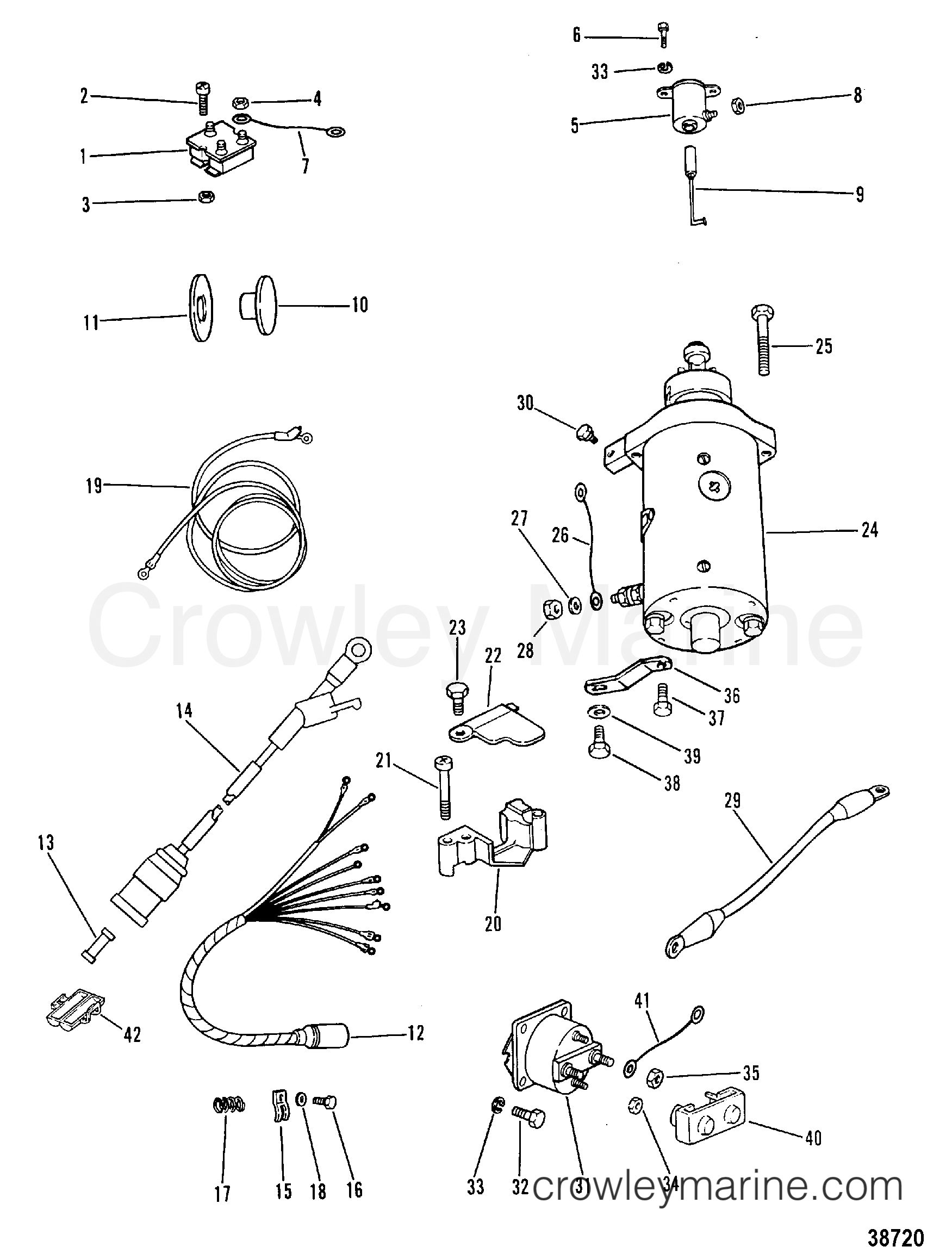 Starter Motor Rectifier And Wiring Harness Electric