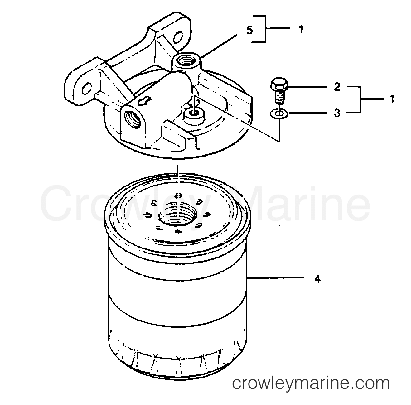 Fuel Filter Base Assembly P N
