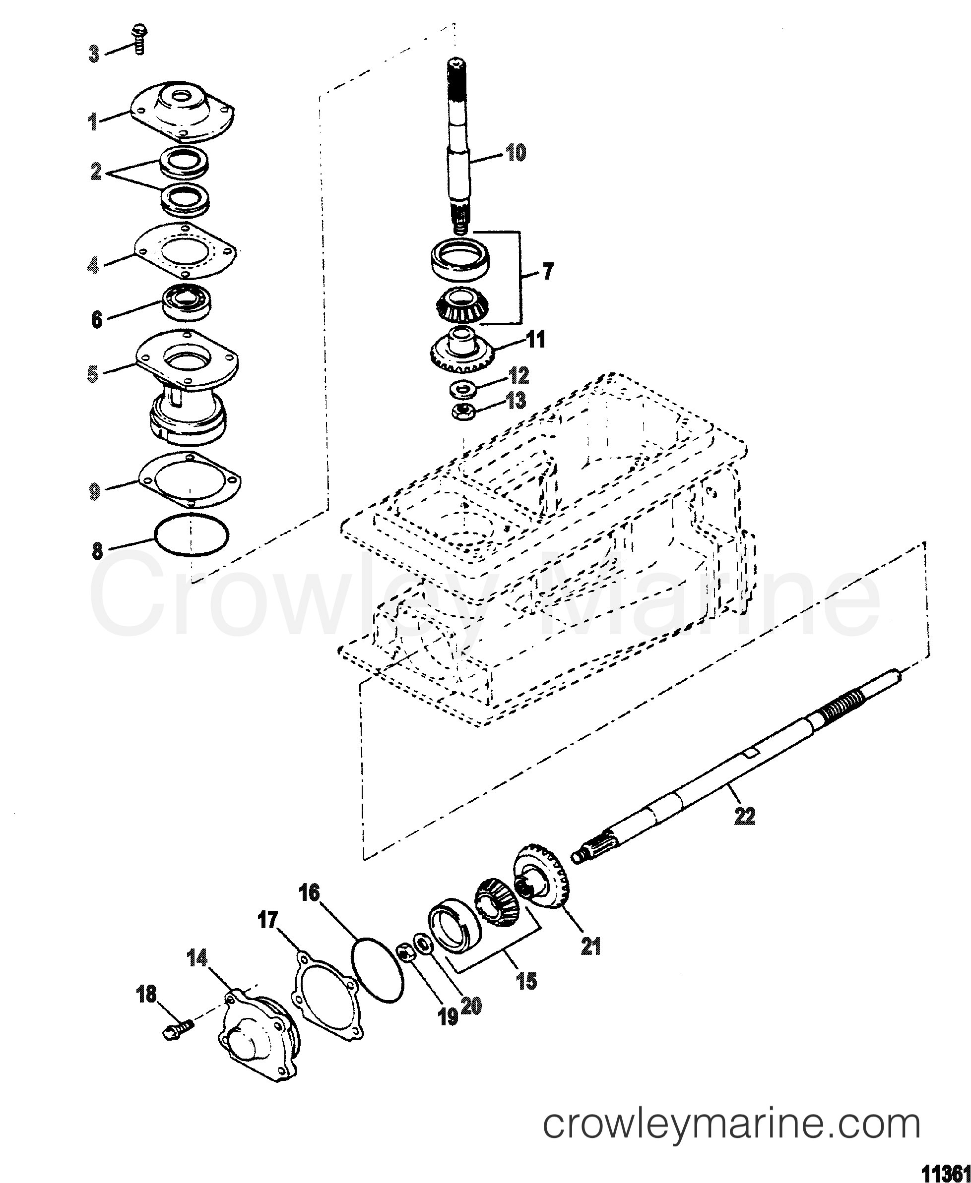 Pinion And Impeller Shaft Threaded Drive