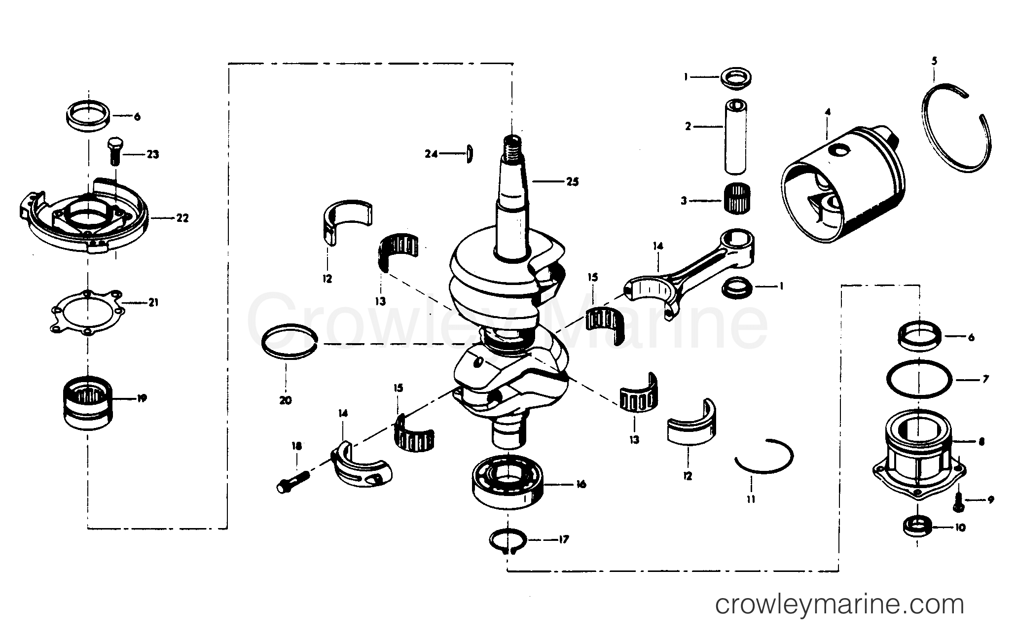Crankshaft And Piston Group