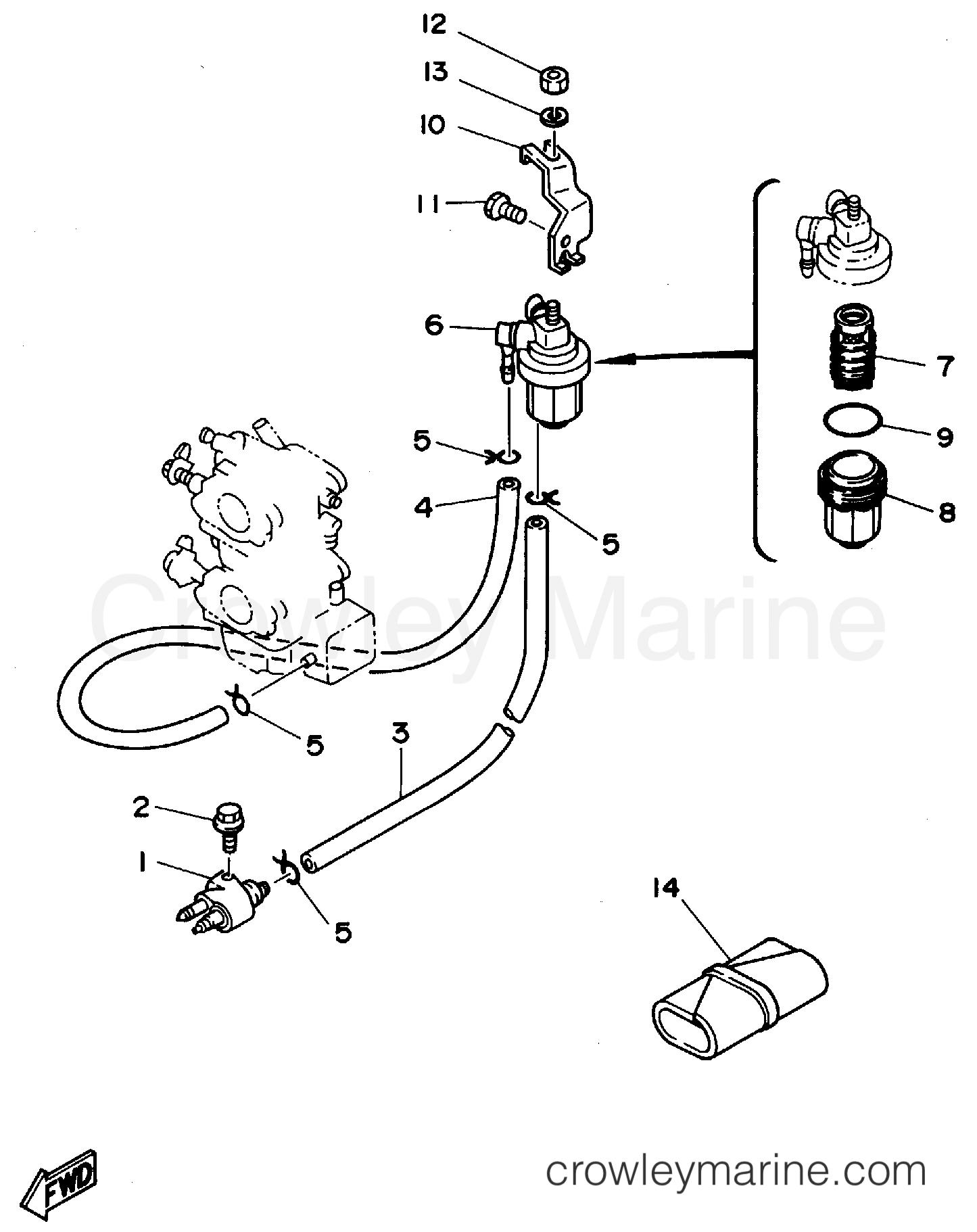Yamaha 25 Hp Fuel Filter
