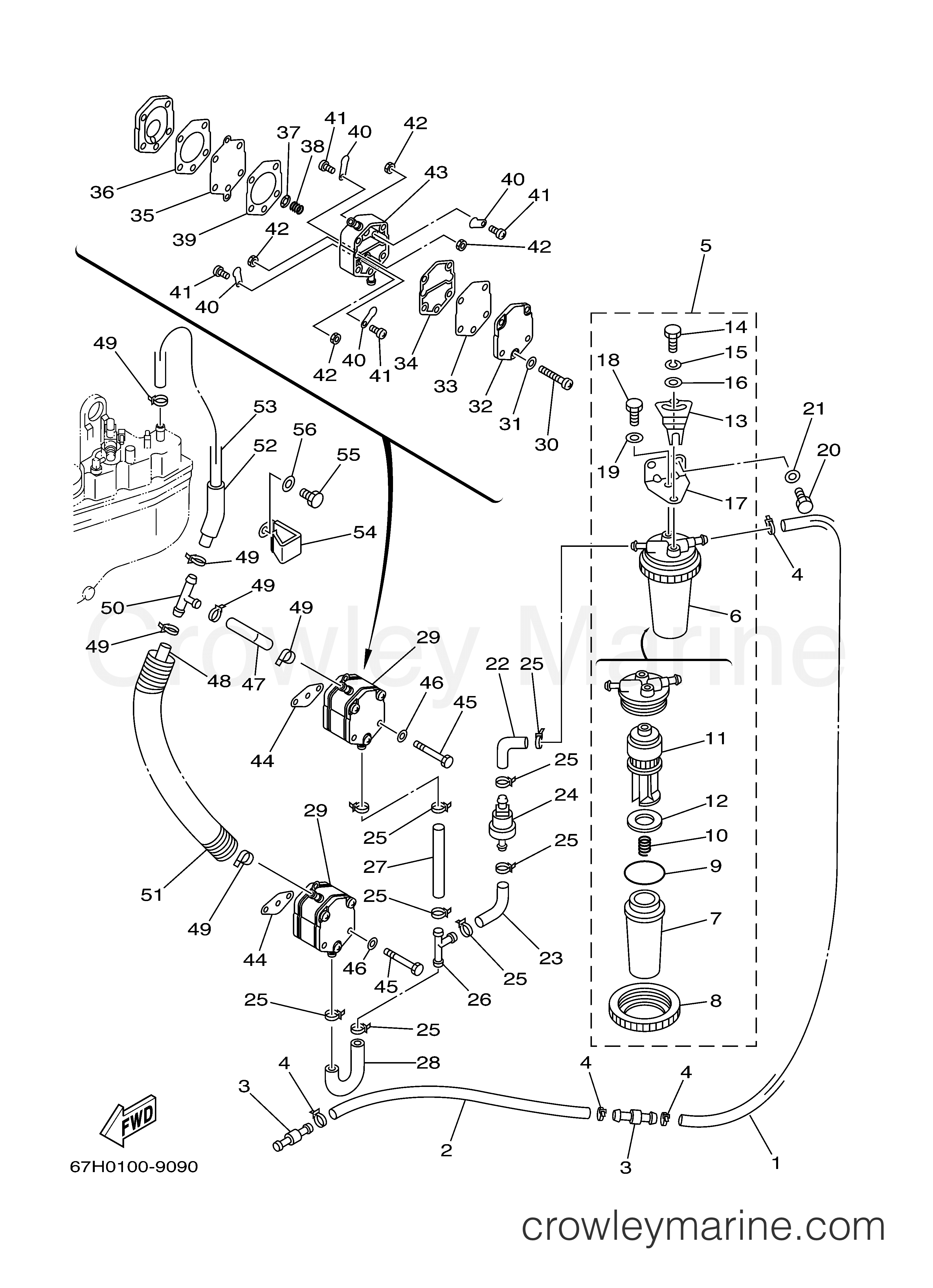 Yamaha Outboard Engine Diagram F50tlra