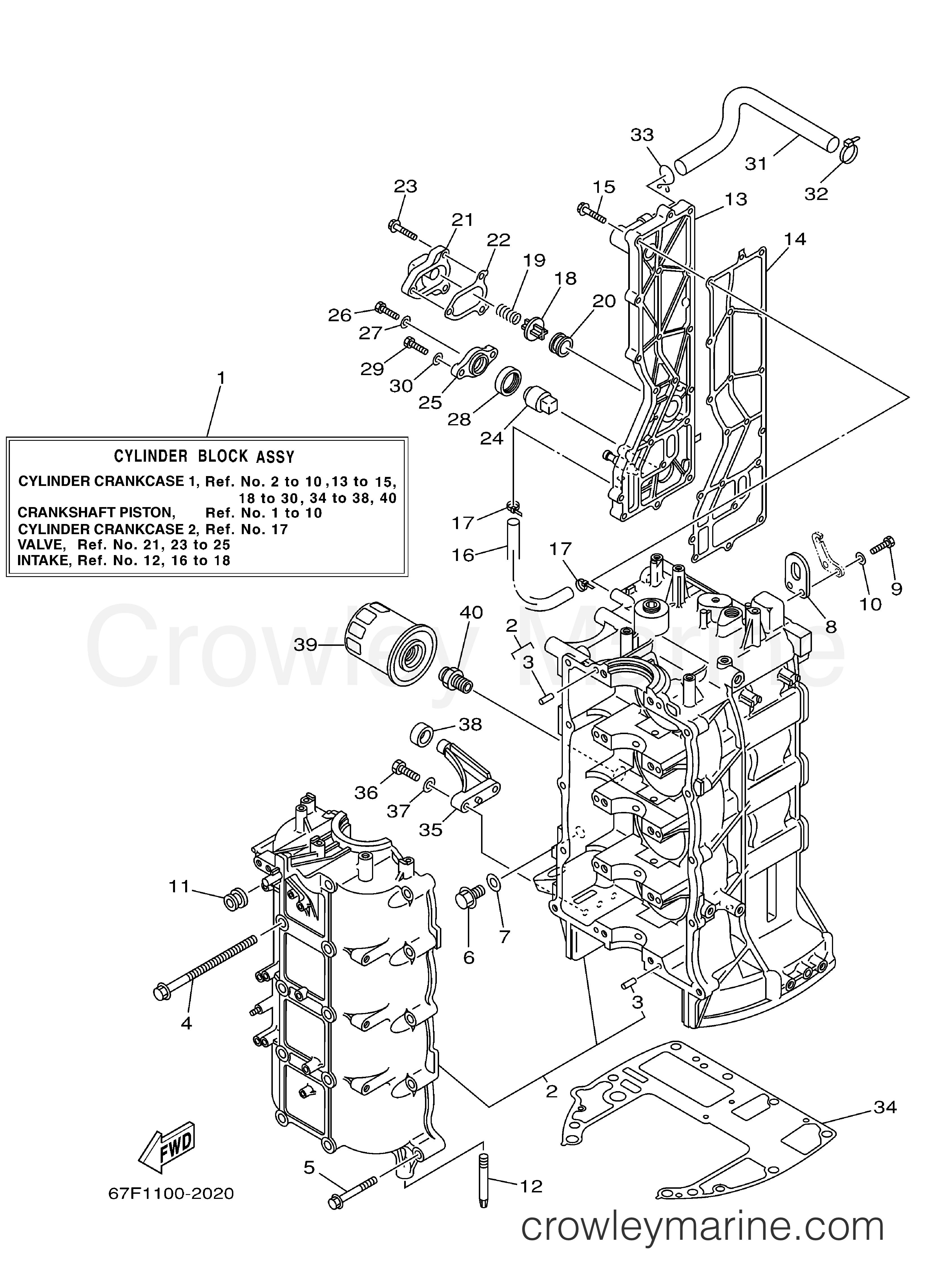 Cylinder Crankcase 1