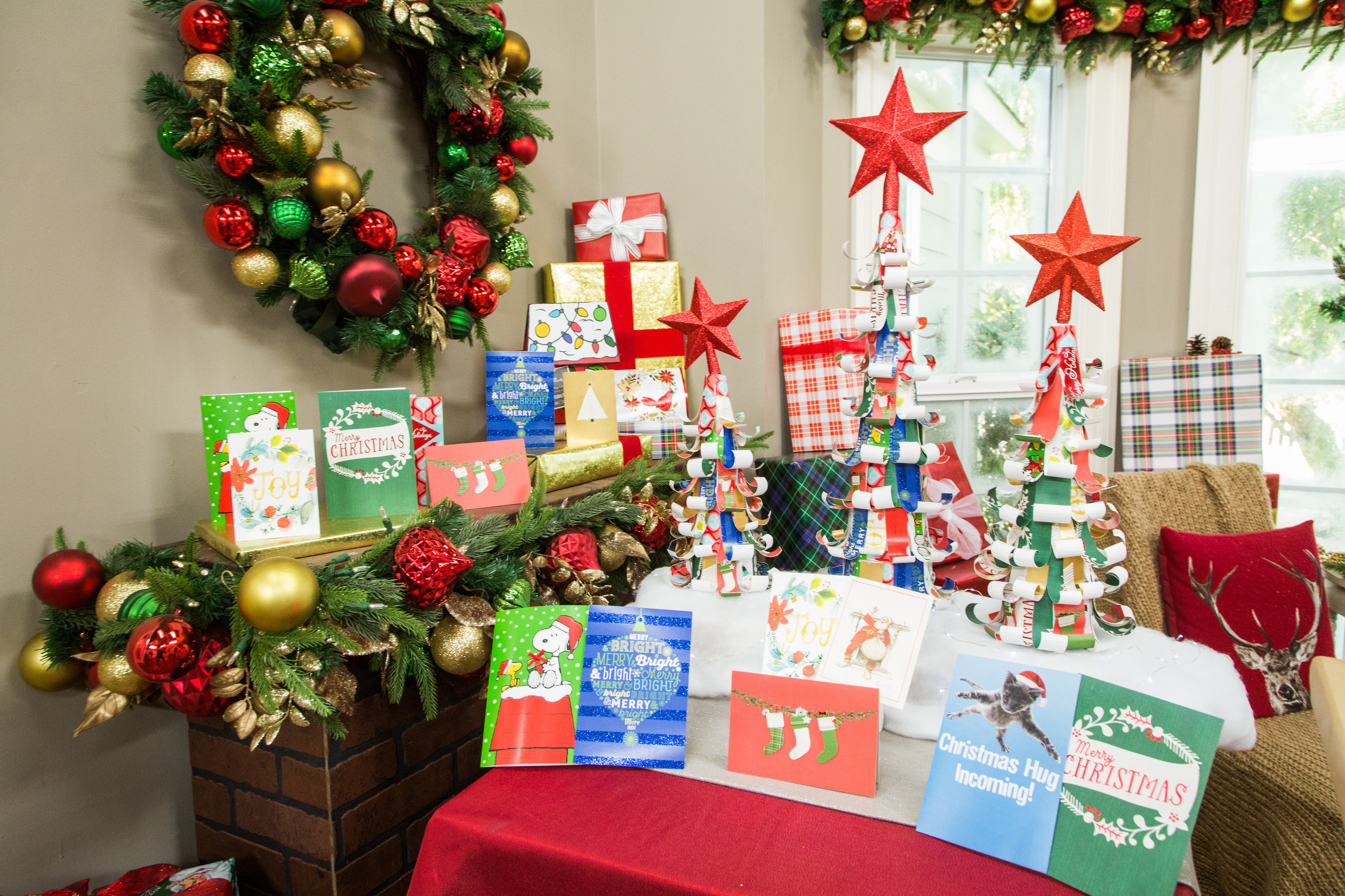 How To DIY Recycled Christmas Card Tree Hallmark Channel