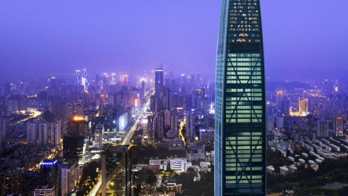 The skyline of Shenzhen, Guangdong province, China. Shenzhen is an economic miracle which led to the development of other parts of China.