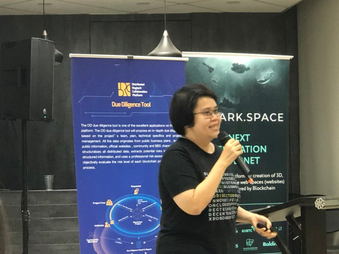 Archari Suppiroj, director of fintech and Thailand's Securities and Exchange Commission speaking at a Outreach Asia event in May, 2018.