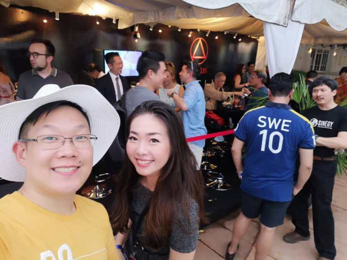 The party carried on behind the velvet ropes at the Aditus booth at Penang Rendezvous 2018 where the MUMM champagne was freeflowing.