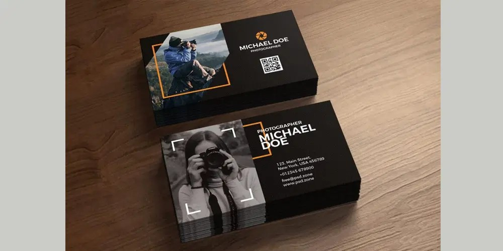 100  Free Business Cards PSD      The Best of Free Business Cards Photography Business Cards Template PSD