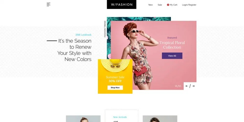 Fashion Store Web Template PSD