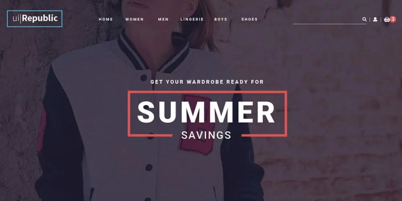Free Clothing Fashion Web Template PSD