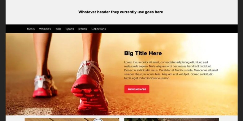 free photoshop web template