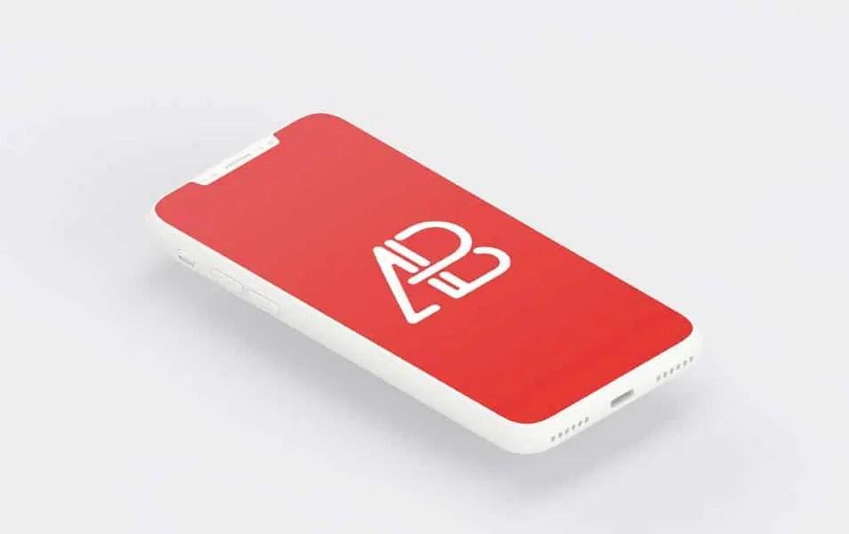 Clay iPhone X Mockup