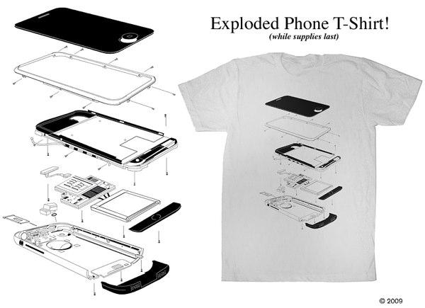 Parts Is Parts Exploded Iphone T Shirt