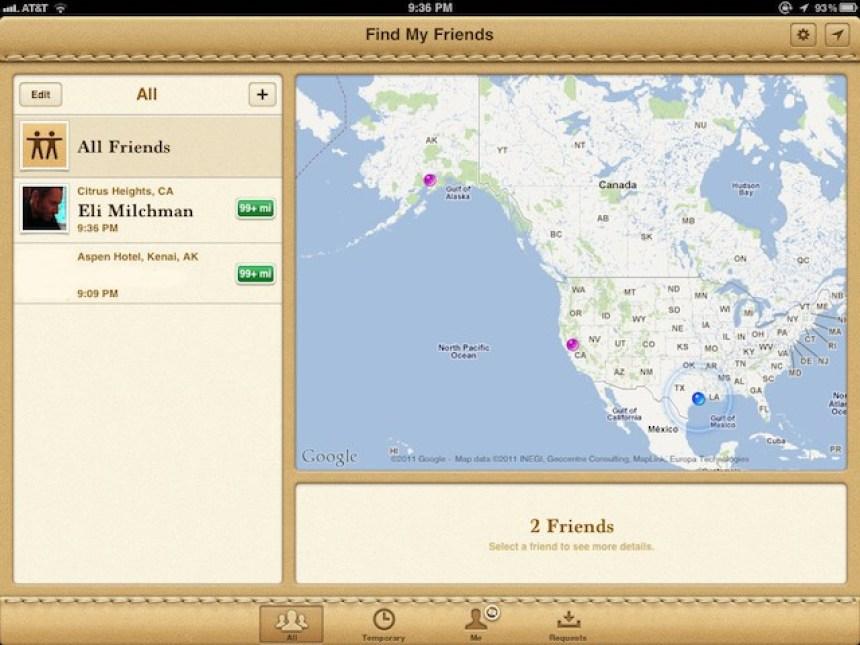 Resultado de imagen para Find My Friends app