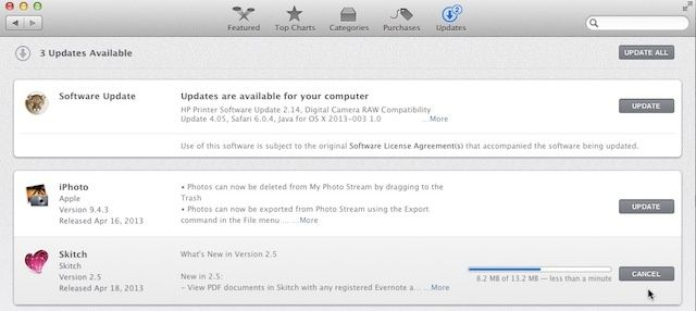 Cancel Instead Of Pausing Your Mac App Store Updates Os X