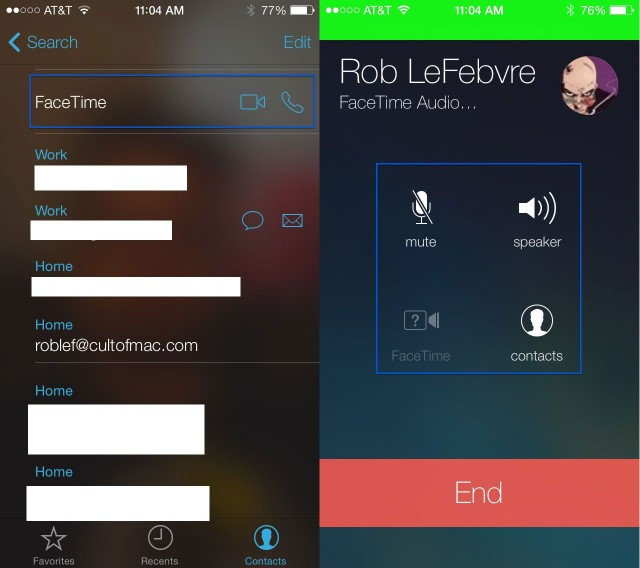 FaceTime solo audio