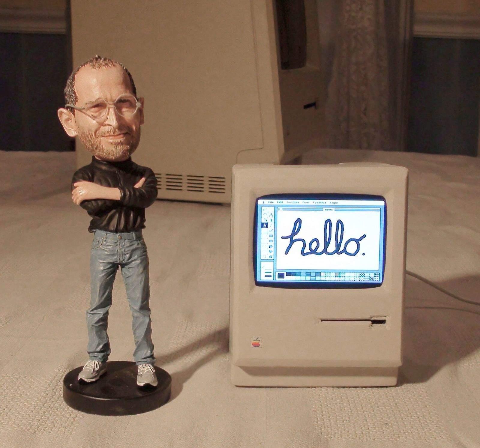 Mini Mac and Steve Jobs Doll