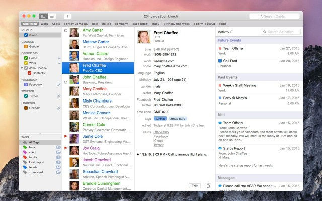 BusyContacts is the best Contacts app replacement we've seen. Photo: BusyContacts