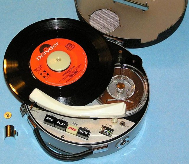 The phonograph feature on the Answer ATR-102 triple corder. Photo: Vintage Technics