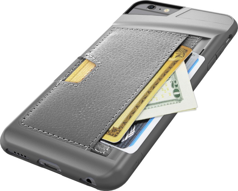 The Q Card Case includes an integrated wallet that easily carries three cards and cash.