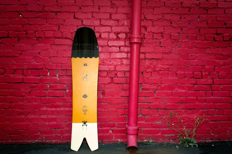 The Cool Bean snowboard looks weird but is a ton of fun.