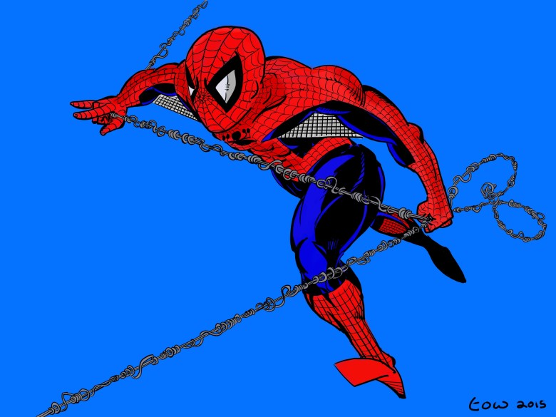 The Spider-Man drawing above was created entirely on the iPad Pro using Procreate and the Apple Pencil.
