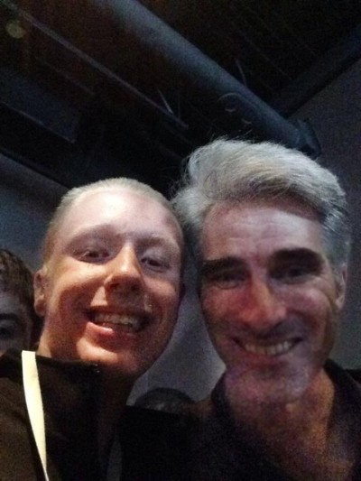 Craig Federighi dropped in to offer some words of wisdom.