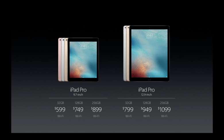 iPad Pro prices