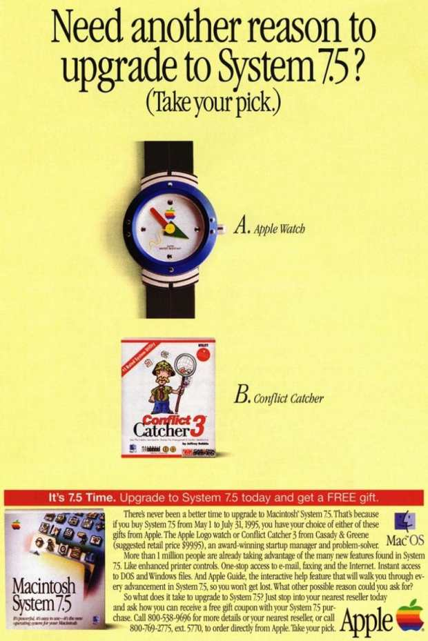 Did you take advantage of this offer to get an original Apple Watch back in 1995?