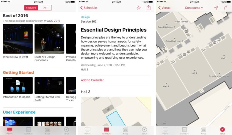 The new WWDC app is here.