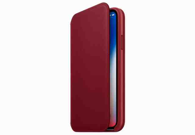 Apple's new Red leather folio for iPhone X