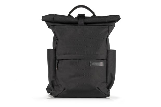 WaterField Designs' Tech Rolltop backpack also comes in black.