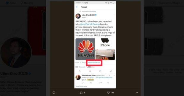 Huawei Twitter blunder