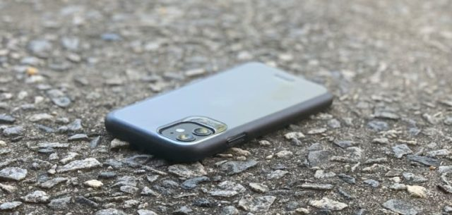 iPhone 11 camera hump covered by a case