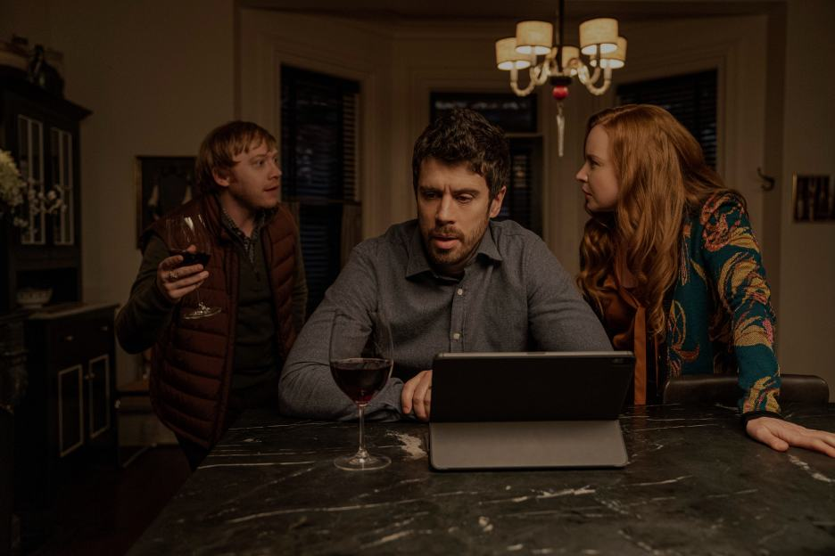 Rupert Grint, Toby Kebbell, and Lauren Ambrose in Servant