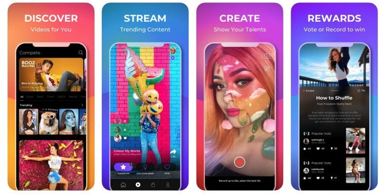 If you love TikTok but don't mind getting paid for your creative clips, Compete is here for you.
