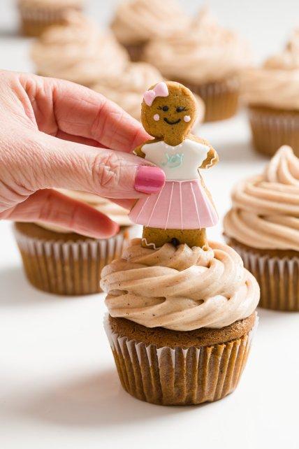 Decoración de cupcakes de pan de jengibre