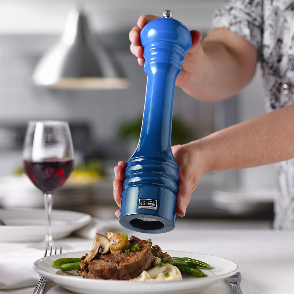 Trudeau Ombre Professional Pepper Mill 12 Inch Blue
