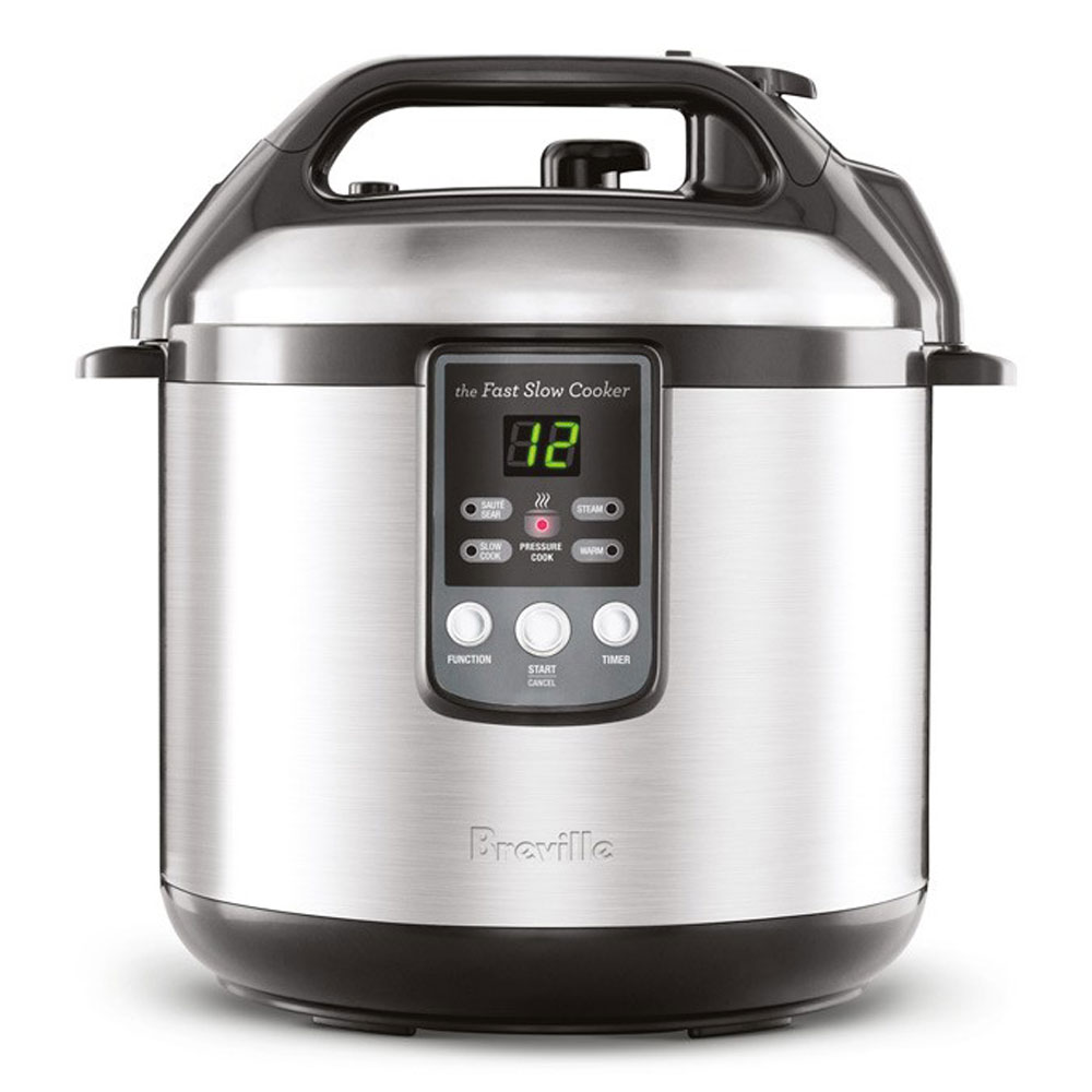 Breville Electric Fast Slow Cooker Amp Pressure Cooker Combo