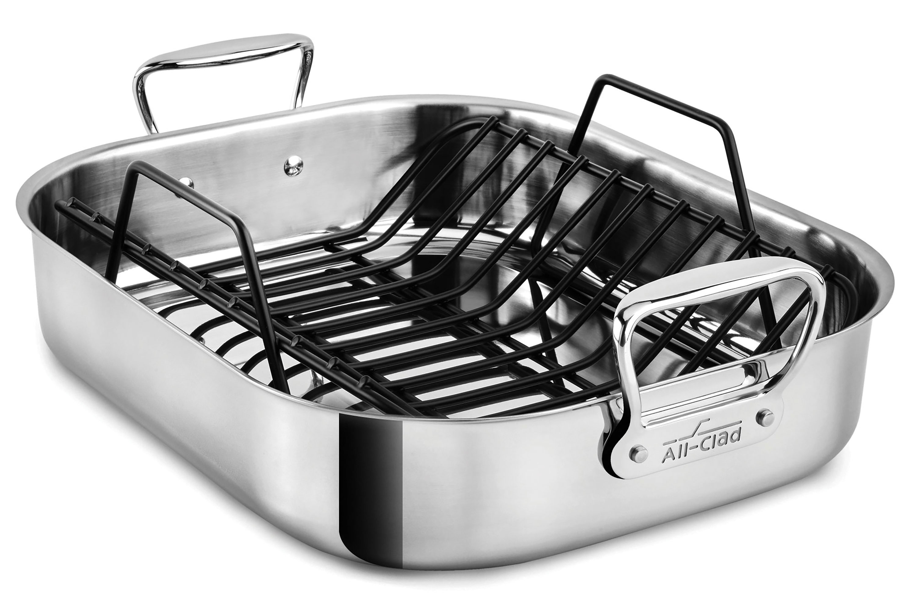 all clad 16x13 roasting pan with rack