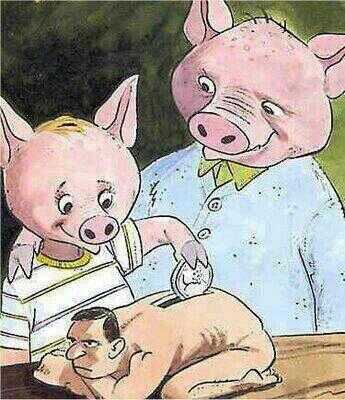 human bank pigs