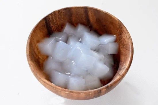 What is coconut jelly made from?