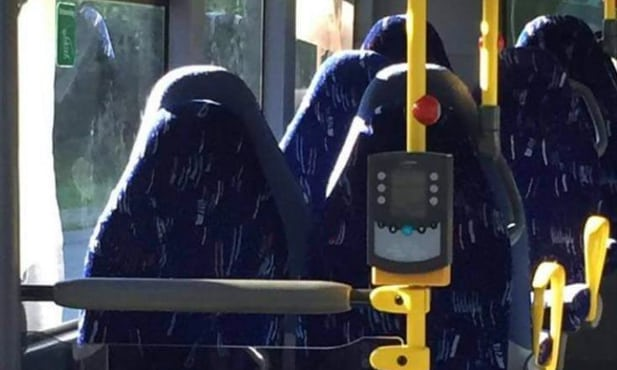 Anti-Muslim group fooled by bus seats, becomes a laughingstock