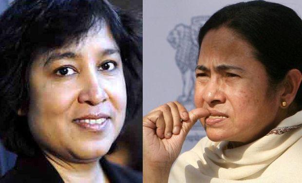 Image result for तस्लीमा नसरीन और ममता