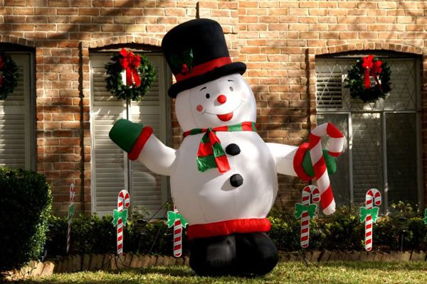 Fat Inflatable Snowman Christmas Decorations Jpg