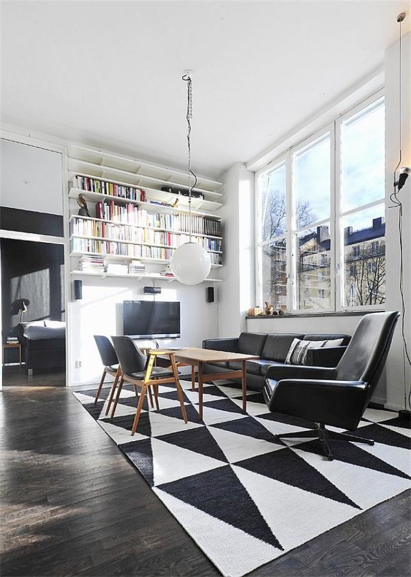 Black Amp White Contemporary Loft In Stockholm Sweden
